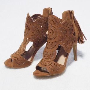 Missguided laser cut out heels